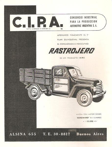 1954 Publicidad Rastrojero