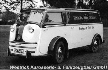 1954 Tempo Matador Westrick Aufbau mit Seitent