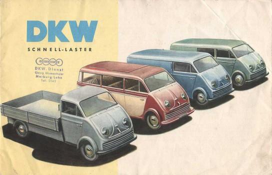 1956 dkw schnellaster advert