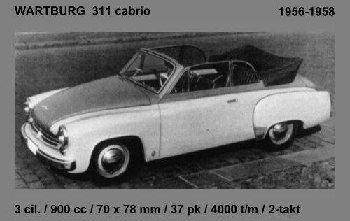 1956 Wartburg 1956 311 cabrio
