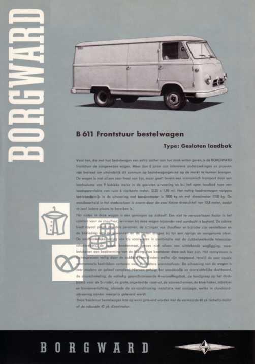 1957-61 Borgward B 1500 F  B 611 a