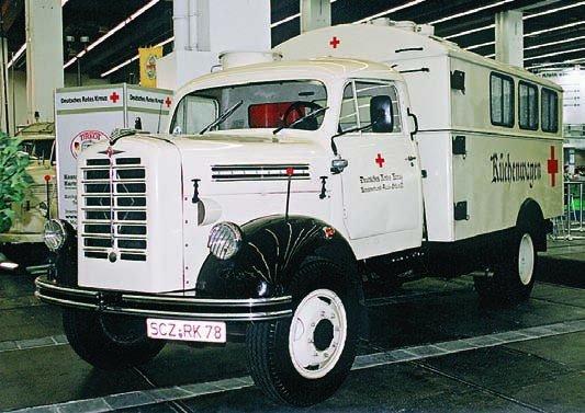 1957 Borgward В4500А, 4x4, ambu