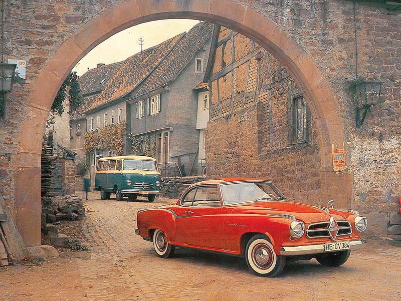 1957 Borgward Isabella Coupe und einen Borgward B611 Bus
