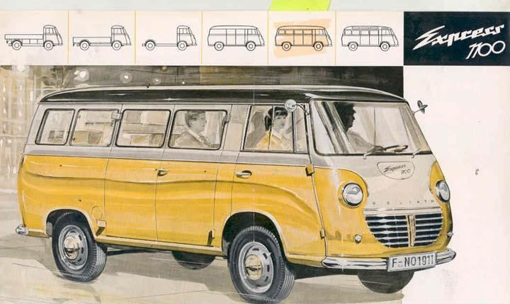 1958 Goliath Express 1100 Station Wagon Bus