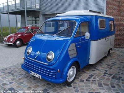 1958 Kampeerbus DKW-3-6-blauw