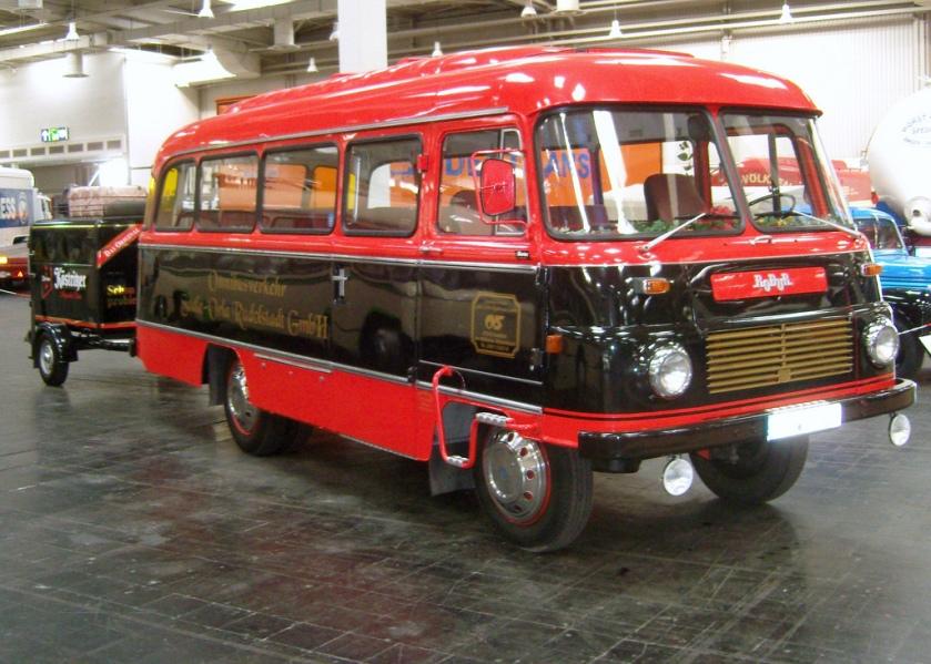 1958 ROBUR Bus en aanhanger DDR