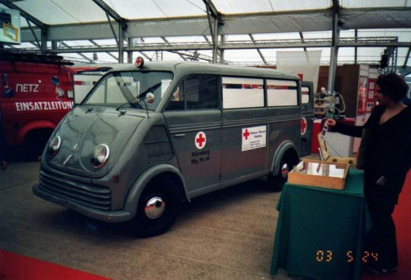1960 Ambulance DKW F800 ambulance Red Cross museum