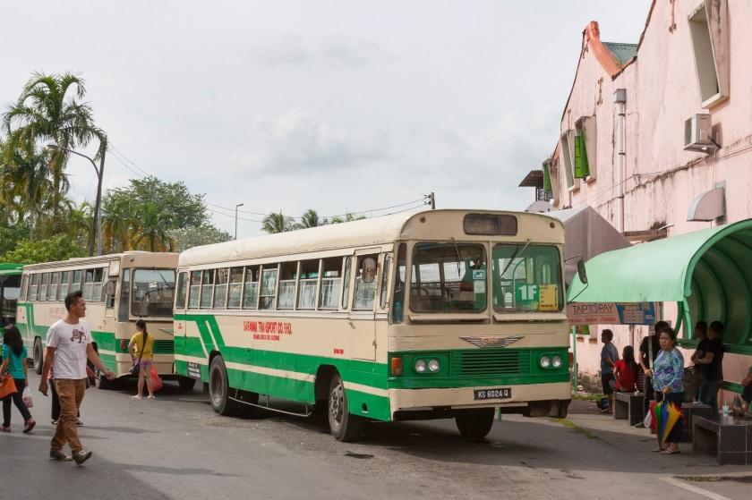 1960 Hino bus in Kuching
