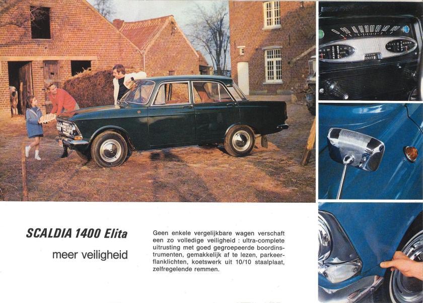 1960 Scaldia 1400 Elita 1cm dik staalplaat