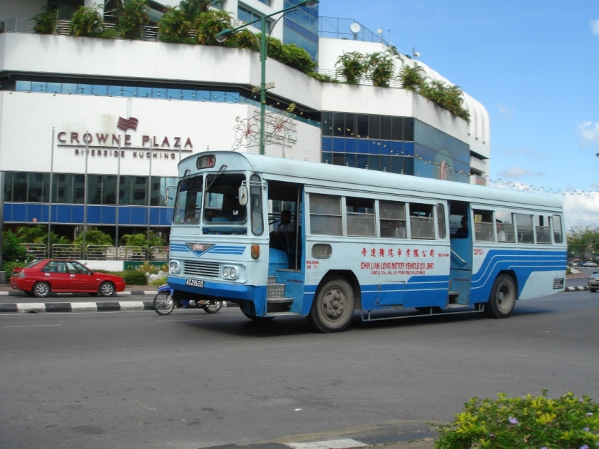 1962 Chin Lian Long's Hino bus KQ21520 in Kuching