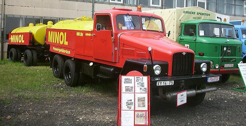 1962 Tankwagen (4000 l) mit Anhänger (4500 l)px-IFA G5 Tankwagen (Minol) W50 Plane