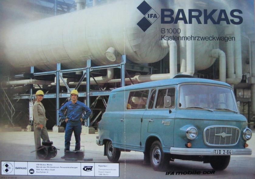 1964 Barkas B1000 IFA 64 DDR