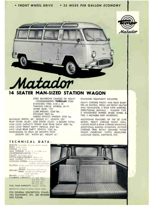 1965 TEMPO MATADOR Catalogue