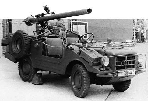 1967 DKW F91-8 Munga with recoilless rifle, 4x4