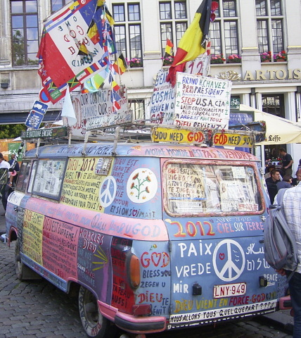 1968 Barkas B 1000 Flower Power Bus