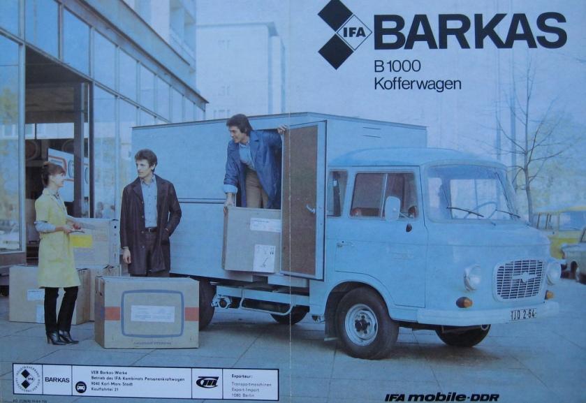1968 Barkas B1000 Kofferwagen IFA