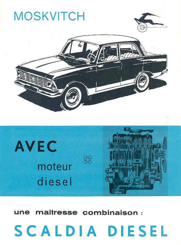 1968 moskvitch scaldia brochure 68