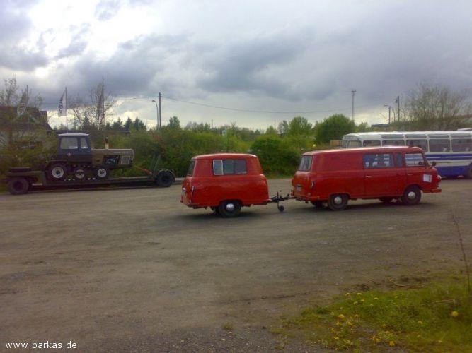 1969 Barkas brandweerbus met anhänger