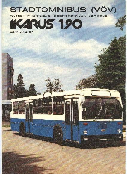 1970 Ikarus 190 im prospekt