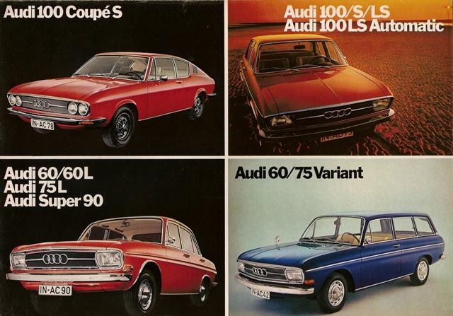 1971 Audi modelrangen