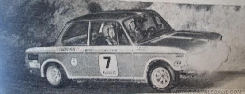1974 BMW 2002 TII, Clasificado 4º 16º Rally 2000 Virajes 1974,