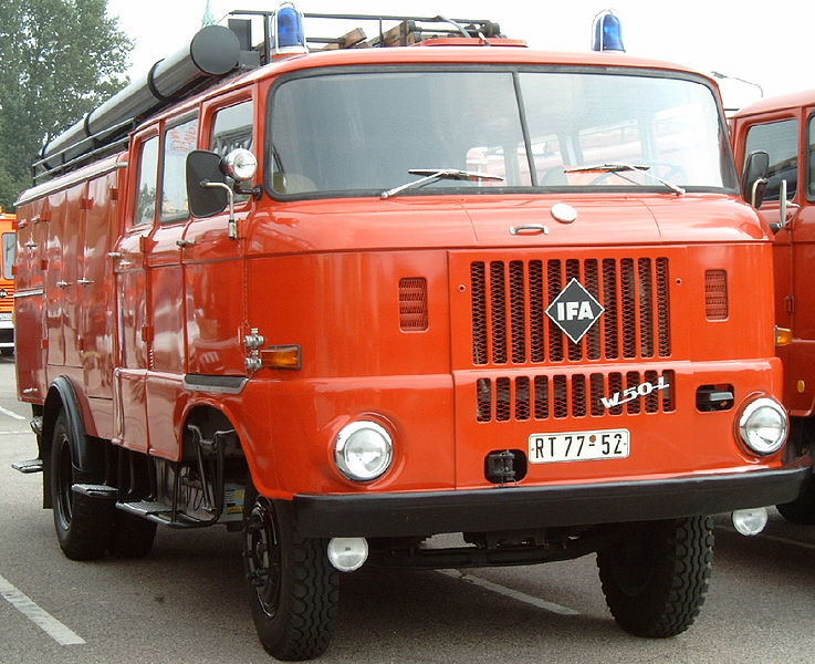 1978 IFA W50 LF 16, hinterachsgetriebenes Löschfahrzeug