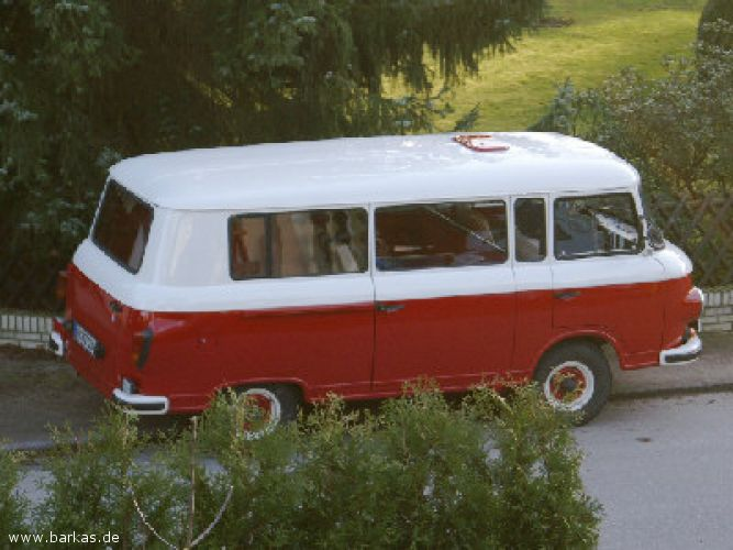 1981 Barkas Red White bus