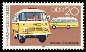 1982 Robur bus postzegel DDR