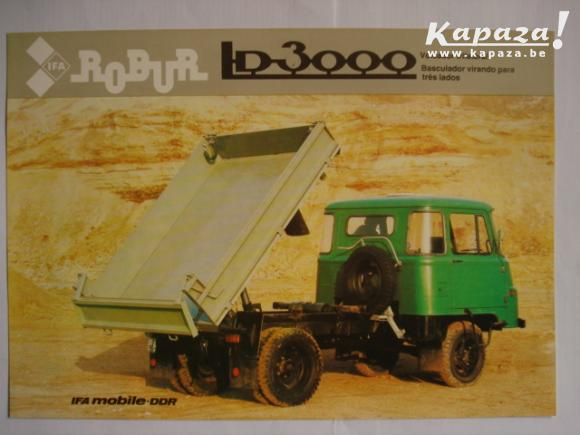 1983 IFA DDR Robur LD 3000 Tipper ESP POR 1983 Brochure