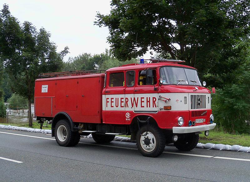 1987 IFA W50 TLF 16, allradgetriebenes Tanklöschfahrzeug