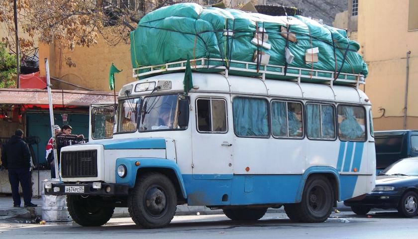 1988 GAZ bus in Amman Syrië