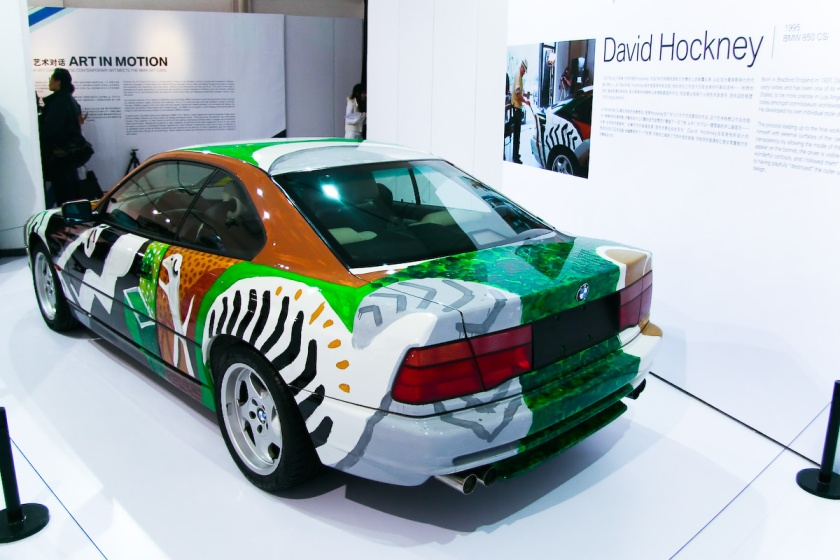1995 BMW 850 CSi Art Car by David Hockney Left rear