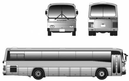 1996 Hyundai Bus RB 600
