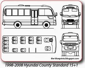 1998-2008 Hyundai County Standard 15+1 mesta