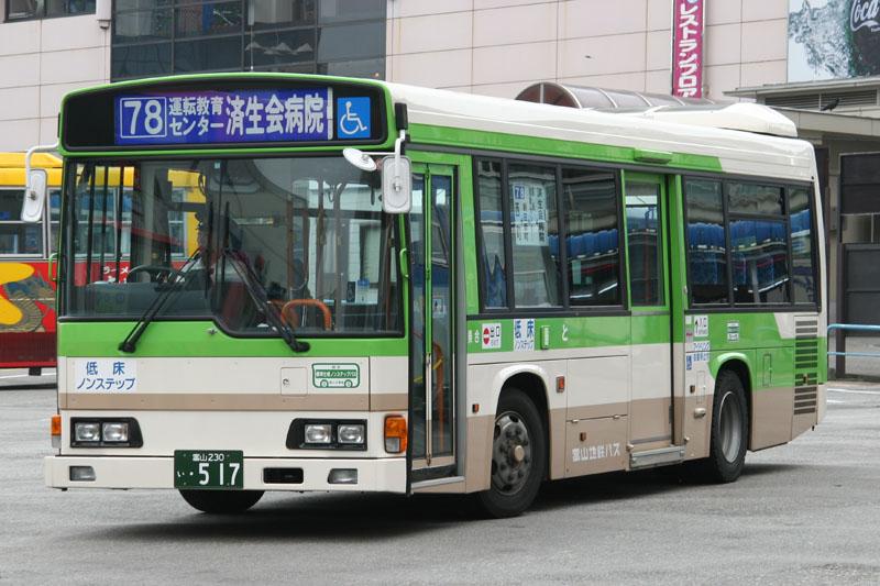 1998 Hino Toyama Chitetsu Bus 517