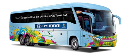 2014 Hyundai World Cup Brazil hp bus