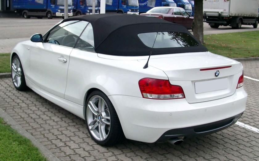 BMW E88 rear