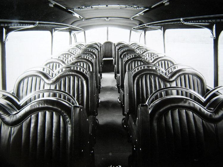 Bussen interieur 1948