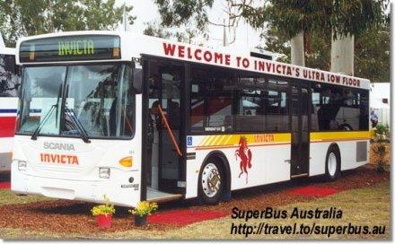 Bussen Invicta Volgren Scania L94UB -Volgren CR224L Low Floor Bus