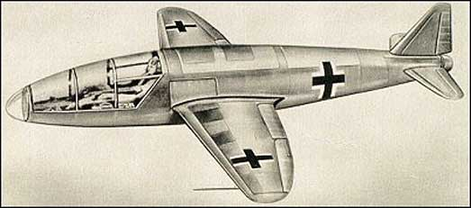 Heinkel-He176-Rocket-Plane-Drawing