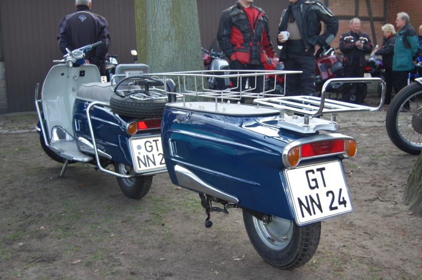 Heinkel Tourist with custom Heinkel trailer