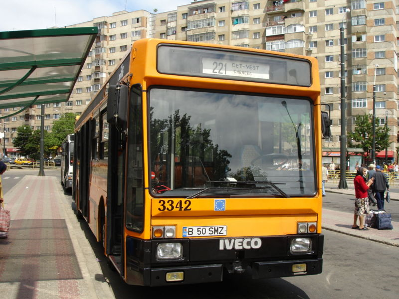 11 Iveco TurboCity-U 480 bus in Bucharest, Romania (operated by RATB)