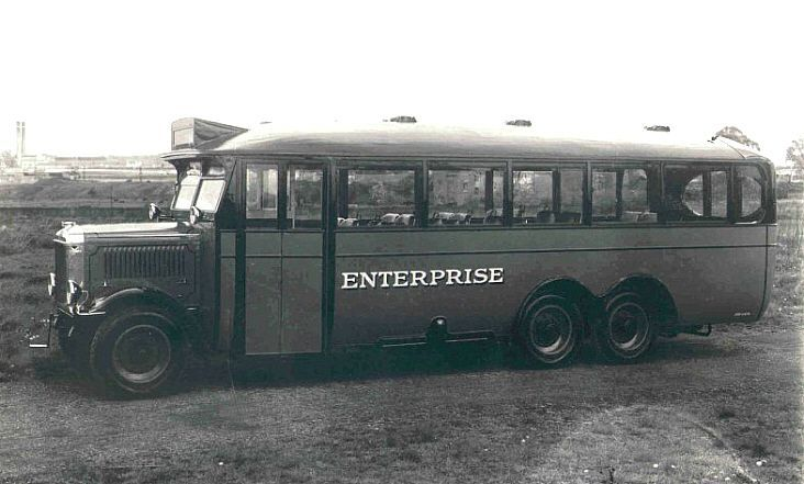 1927 Karrier 6-wheel belonging to a company named Enterprise