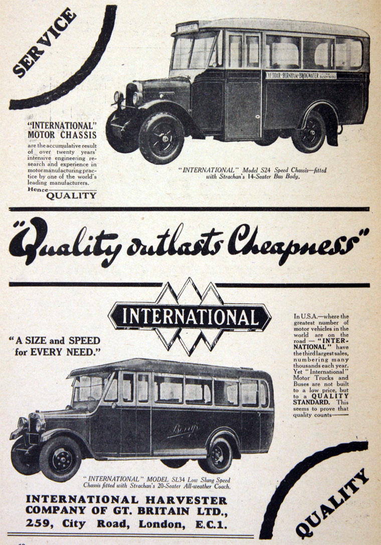 1930 International Harvester Buses