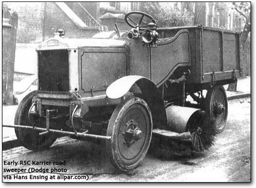 1933 Karrier road-sweeper