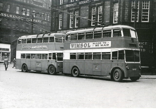 1942 KARRIER AND SUNBEAM TROLLEYBUSES (BRADFORD CITY TRANSPORT,) POSTCARD