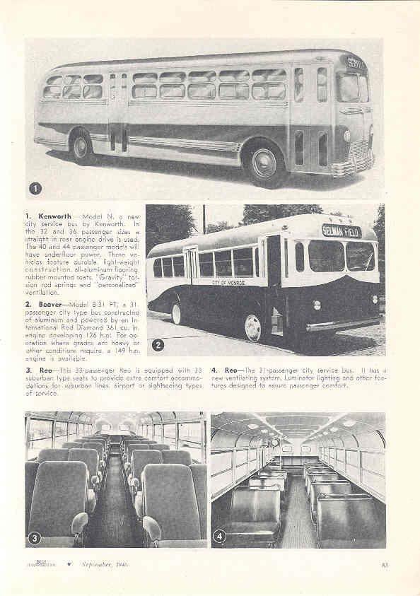 1946 Kenworth Beaver Aerocoach Southern Bus