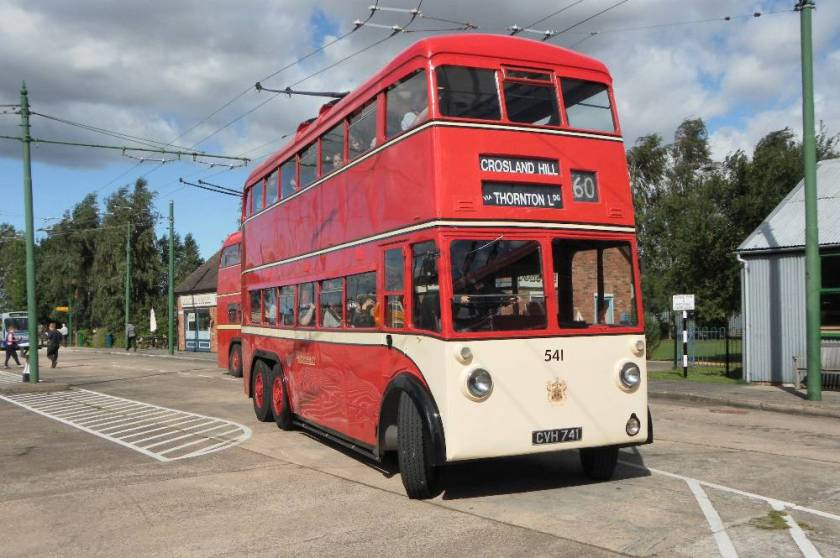1947 Karrier MS2 trolleybus 541, CVH741, with Park Royal H30-70R body