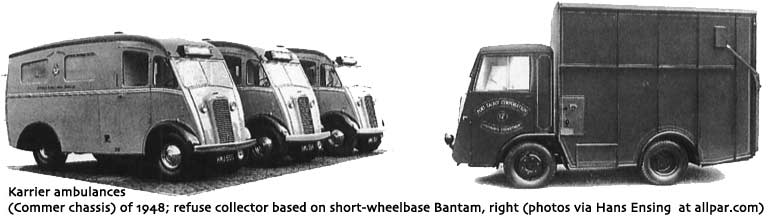 1948, over 600 municipalities used Karrier vehicles ambulances-and-refuse-collector