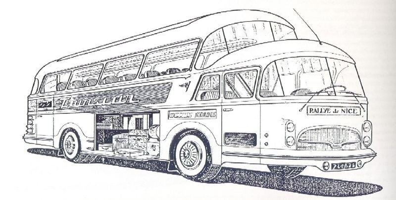1950 Isobloc 656 DH Panoramique. Casuálmente su motor vertical era un Hispano Suiza HS 102V de 6 cilindros y 165 CV.